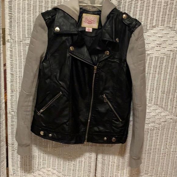 Pink Envelope Faux Leather Jacket